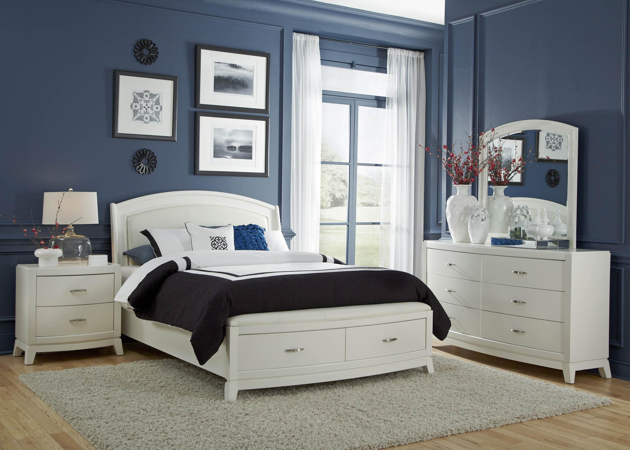 Liberty Furniture Avalon II 4PC Queen Storage Bedrom Set - Item Number: 205-BR-QSBDMN