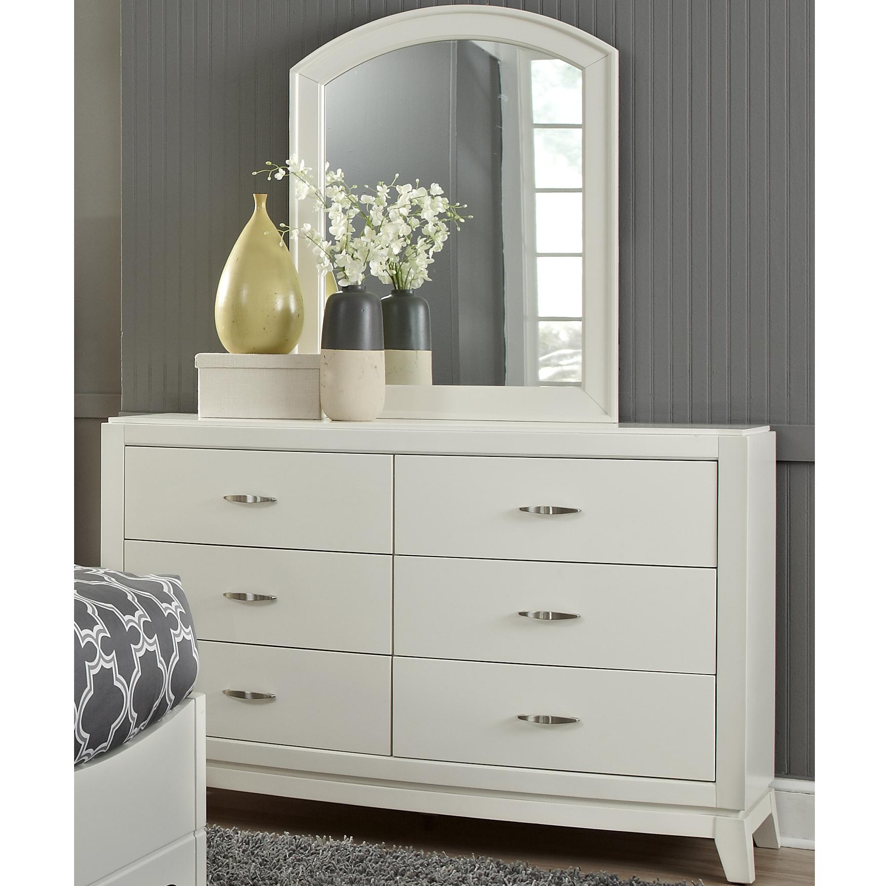 Liberty Furniture Avalon II Dresser and Mirror - Item Number: 205-YBR-DM