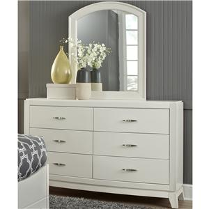 Vendor 5349 Avalon II Dresser and Mirror