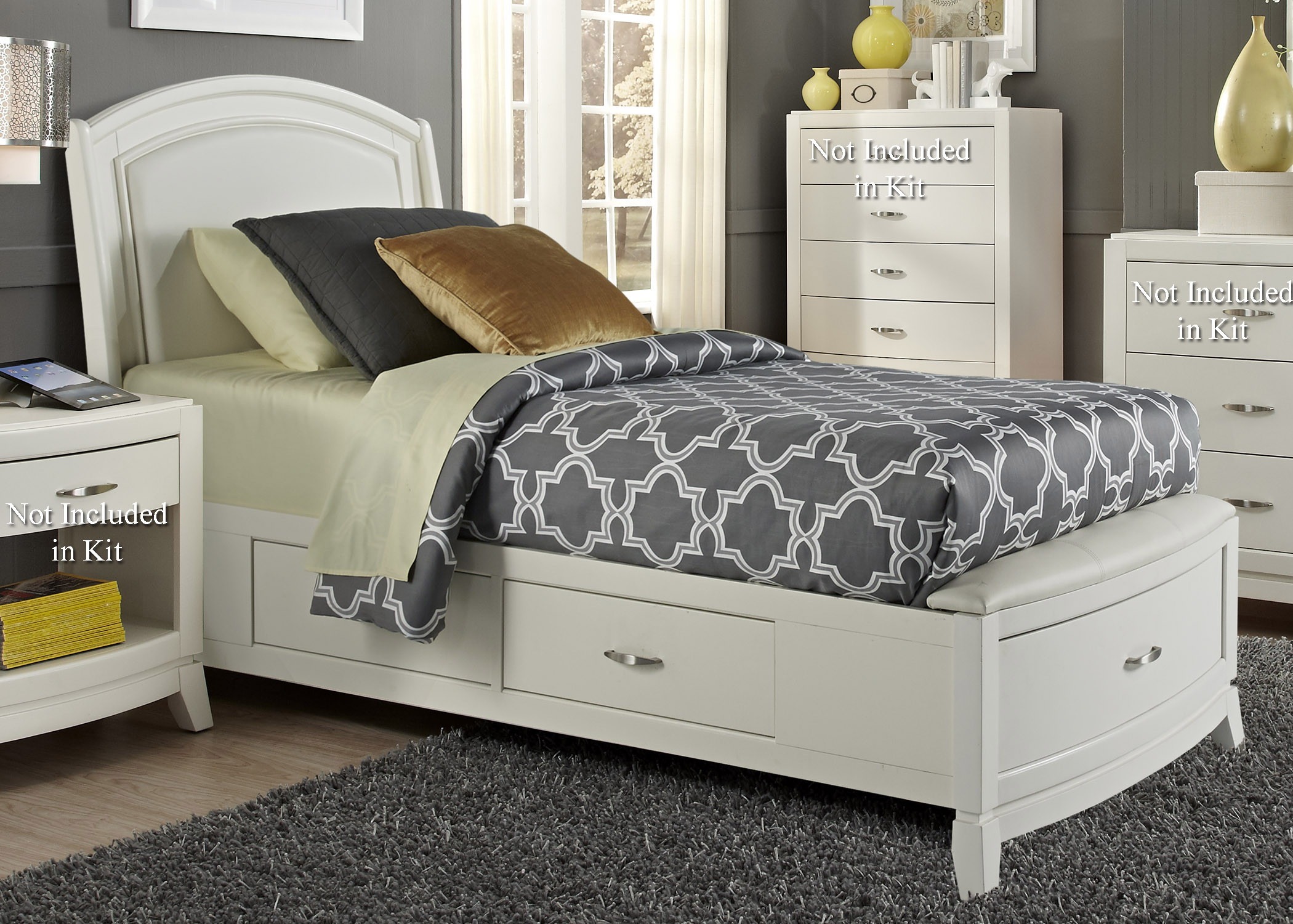 Liberty Furniture Avalon II Full One Sided Storage Bed  - Item Number: 205-YBR-F1S