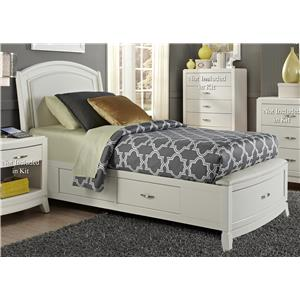 Liberty Furniture Avalon II Full One Sided Storage Bed