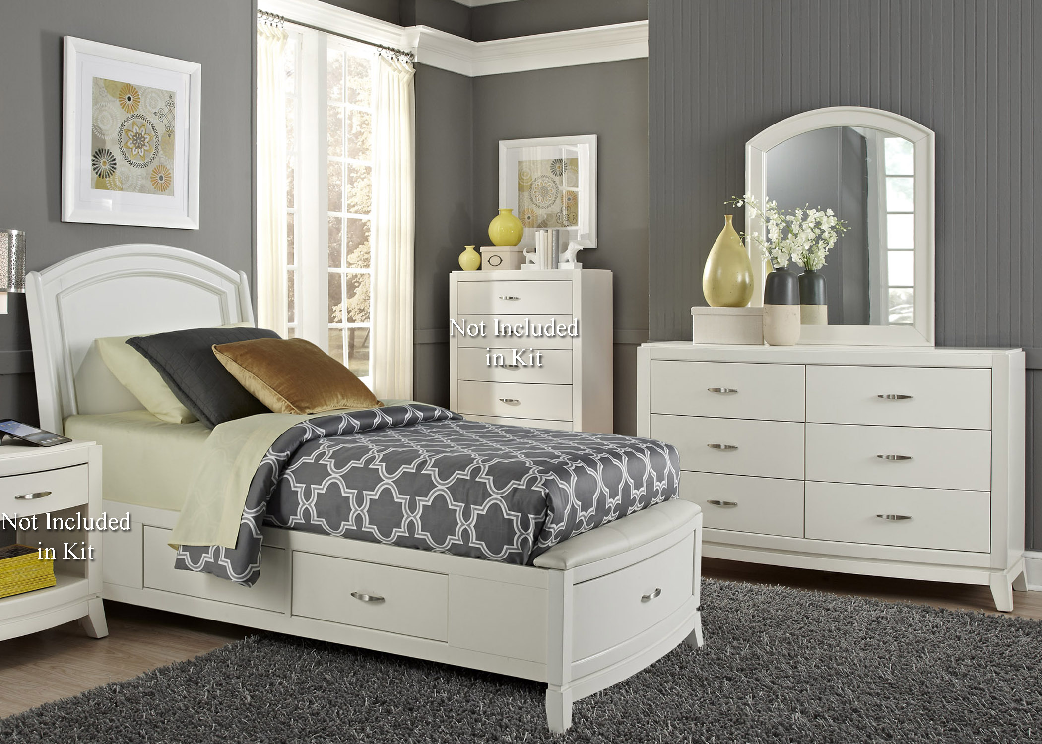 Liberty Furniture Avalon II Twin Storage Bedroom Group 1 - Item Number: 205-YBR-T1SDM