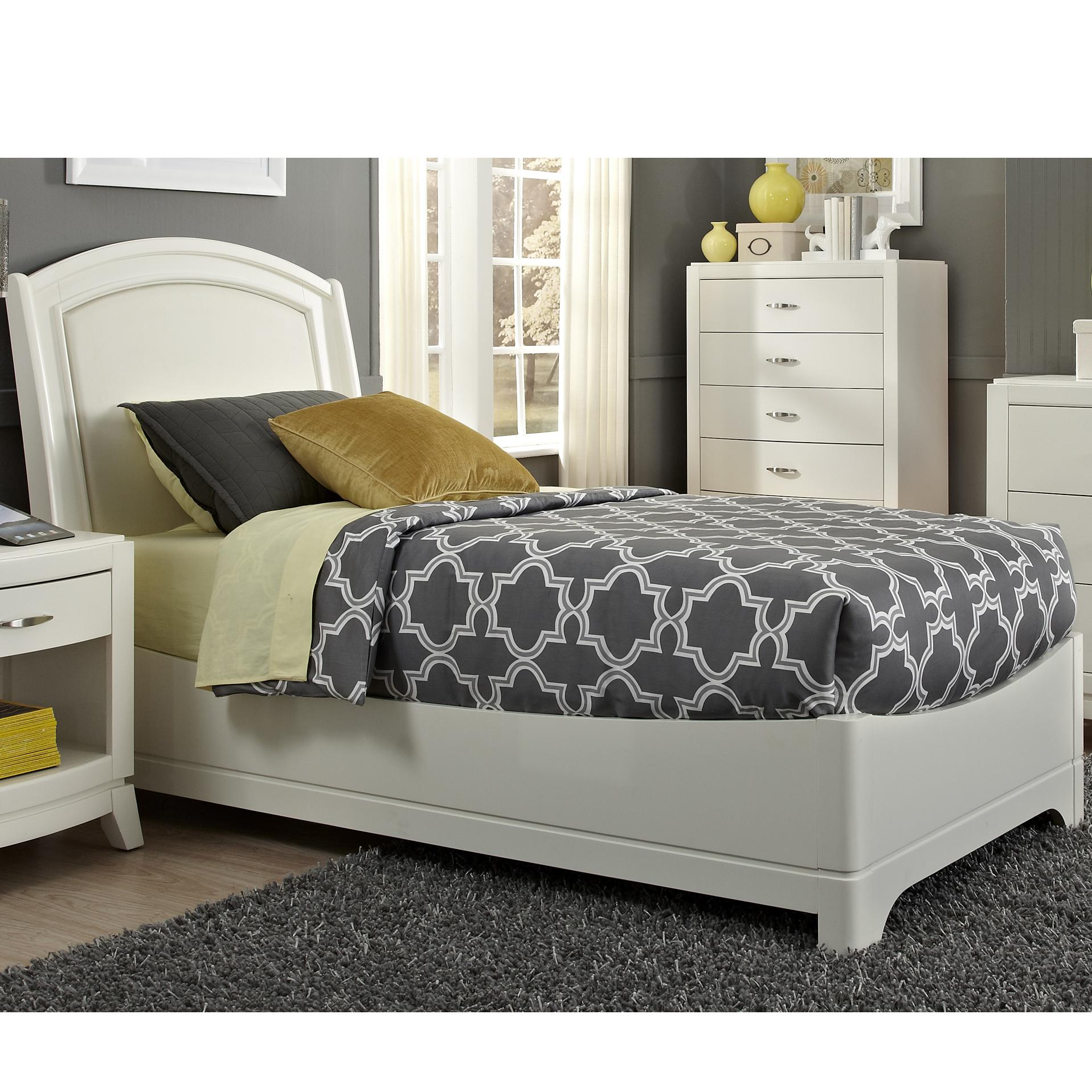 Liberty Furniture Avalon II Full Leather Bed - Item Number: 205-YBR-FLB