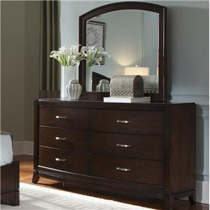 Liberty Furniture Avalon Dresser & Arch Top Mirror