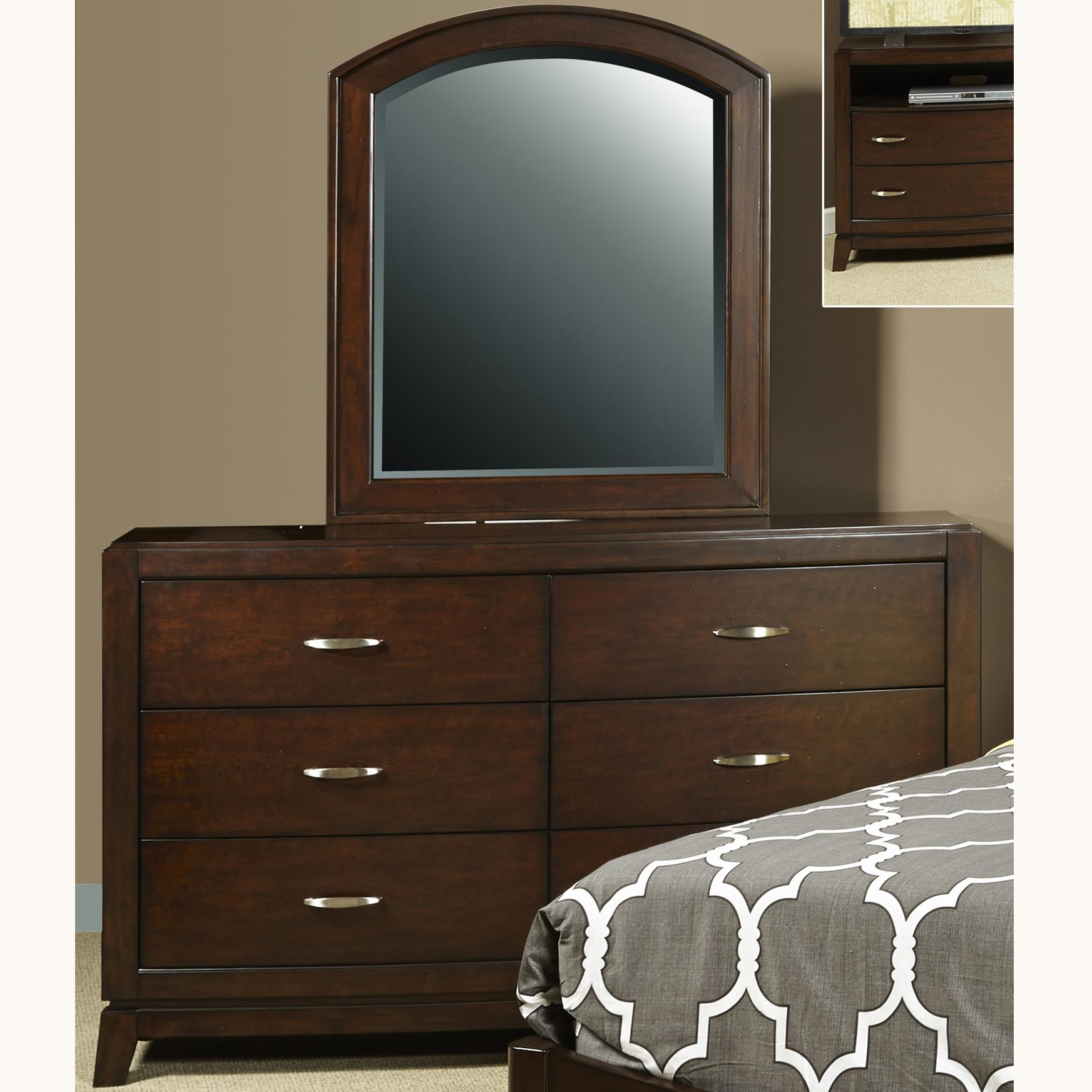 Liberty Furniture Avalon Dresser and Mirror - Item Number: 505-YBR-DM