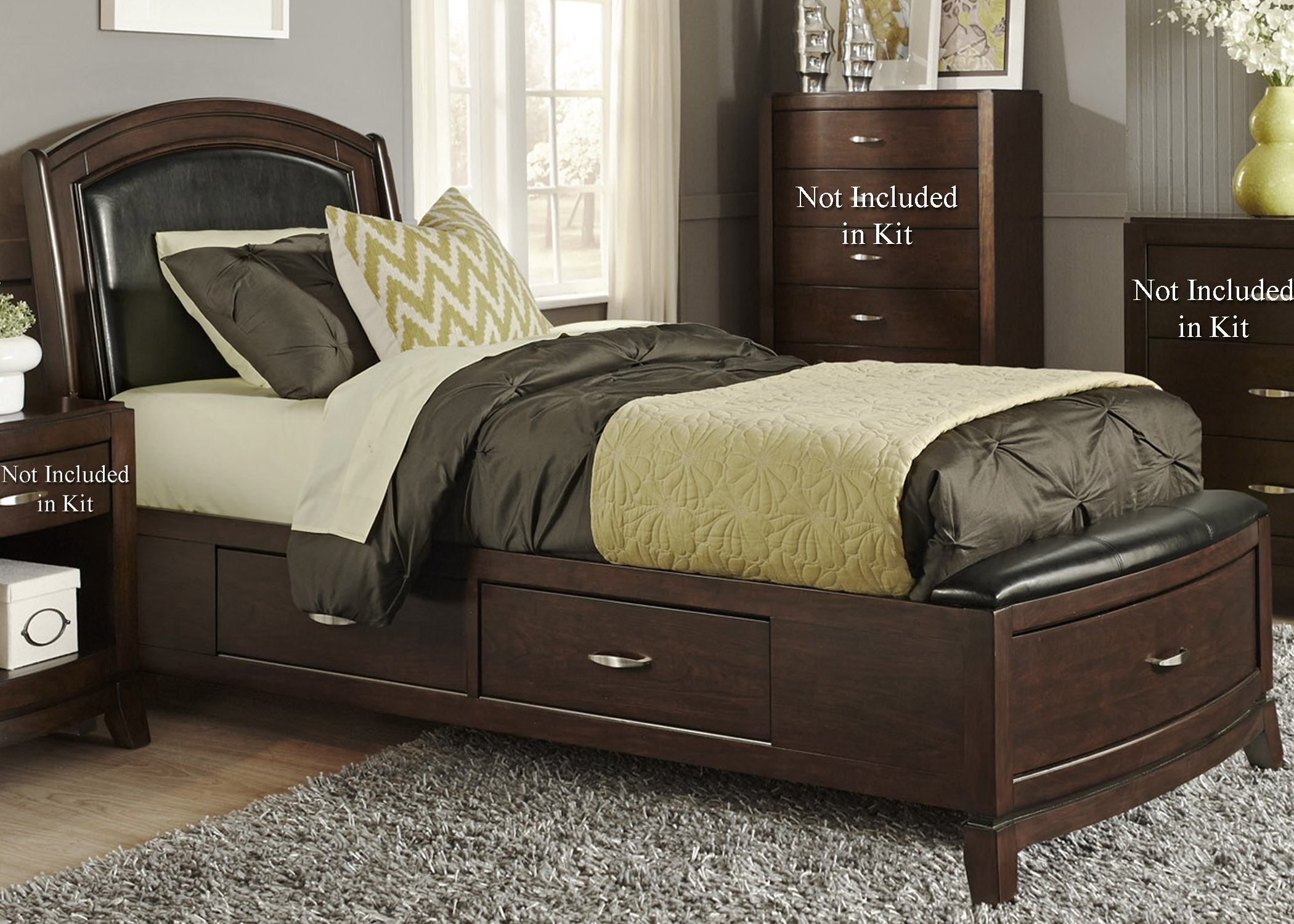 Liberty Furniture Avalon Full One Sided Storage Bed  - Item Number: 505-YBR-F1S