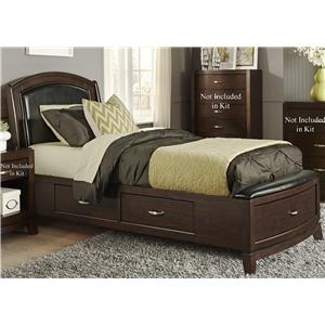 Vendor 5349 Avalon Twin One Sided Storage Bed
