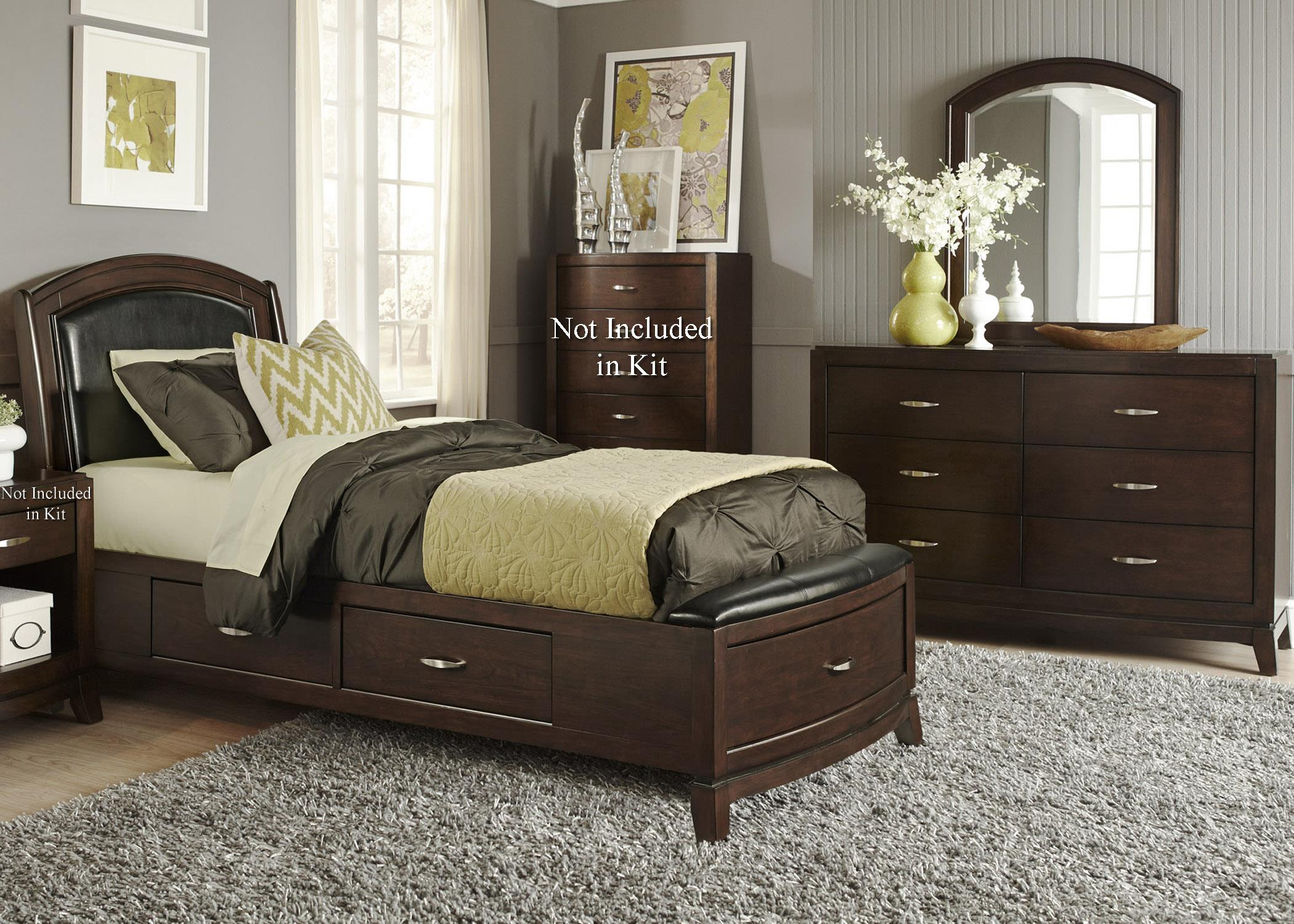 Liberty Furniture Avalon Twin Storage Bedroom Group 1 - Item Number: 505-YBR-T1SDM
