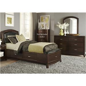 Vendor 5349 Avalon Twin Storage Bedroom Group 1