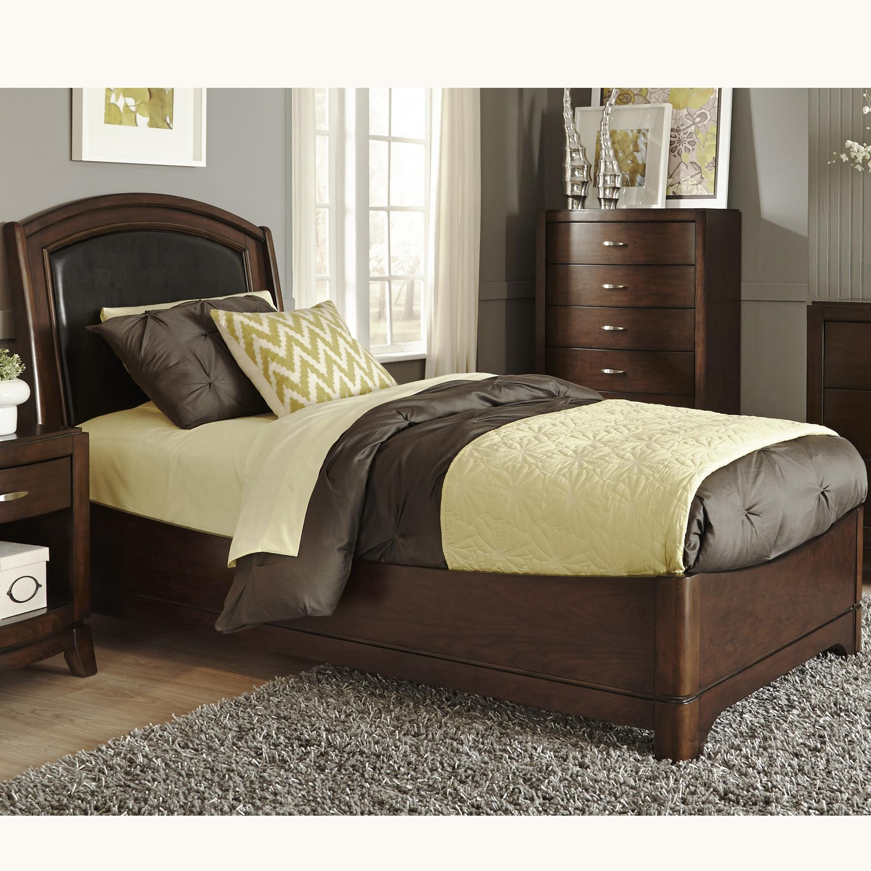 Liberty Furniture Avalon Twin Leather Bed - Item Number: 505-YBR-TLB