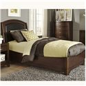 Vendor 5349 Avalon Twin Leather Bed - Item Number: 505-YBR-TLB