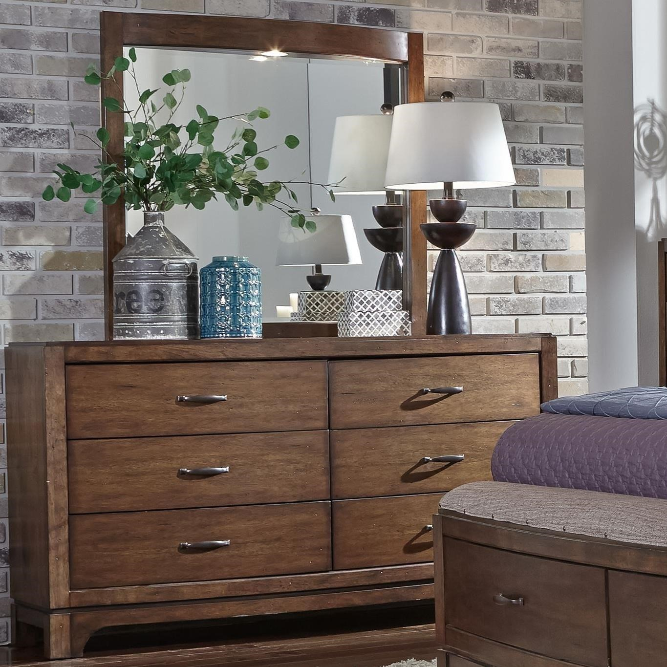 Avalon III Opt Dresser & Mirror  by Liberty Furniture at Furniture and ApplianceMart