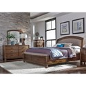 Liberty Furniture Avalon III Queen Bedroom Group  - Item Number: 705-BR-QSBDM