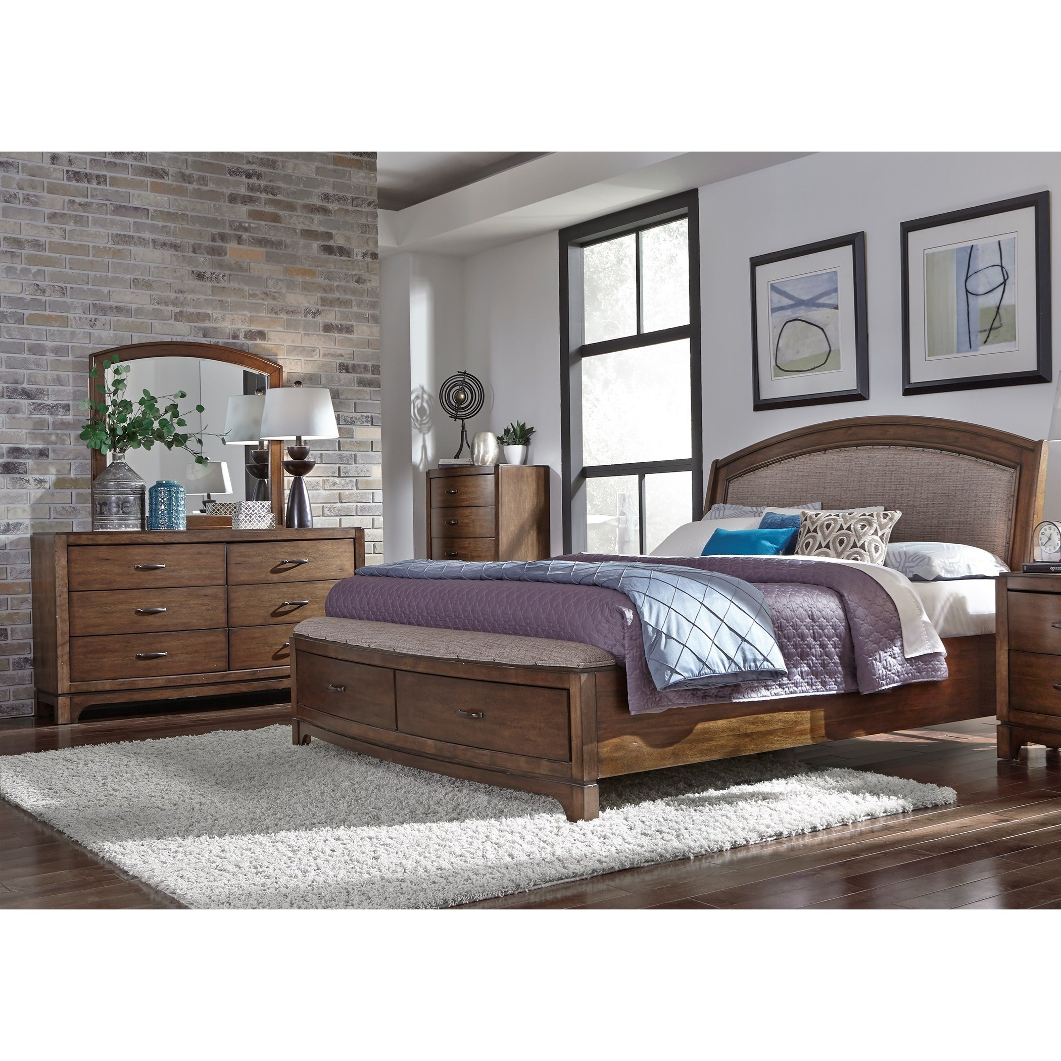 Avalon III Queen Bedroom Group by Sarah Randolph Designs at Virginia Furniture Market