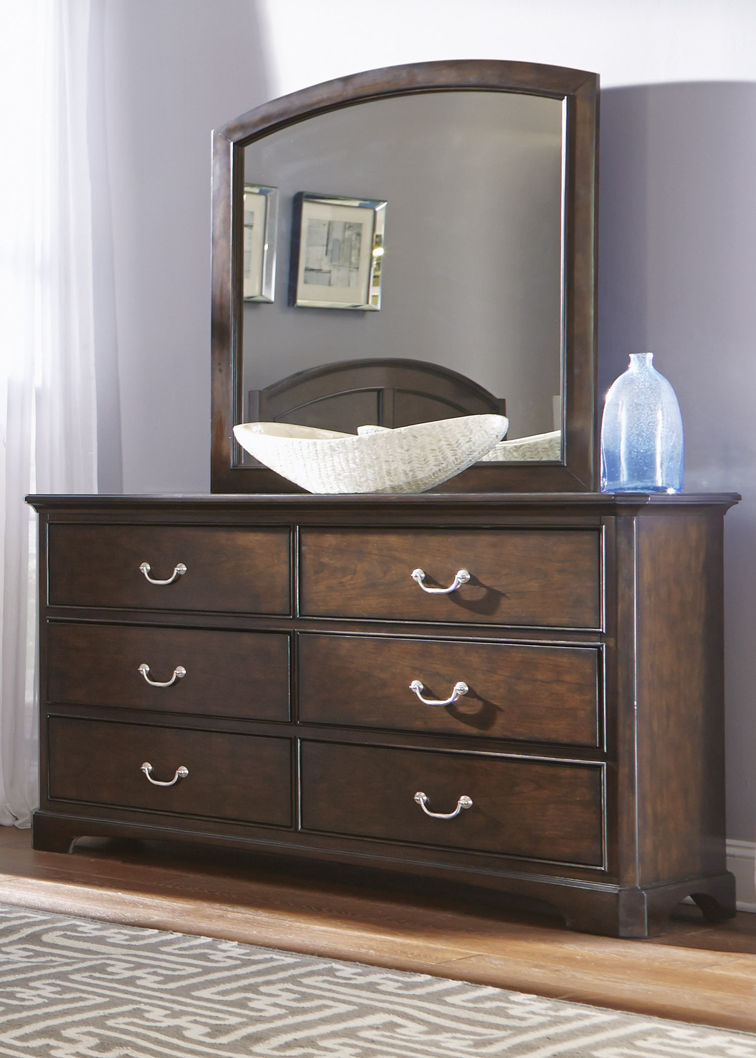 Liberty Furniture Avington Dresser & Mirror  - Item Number: 172-BR-DM