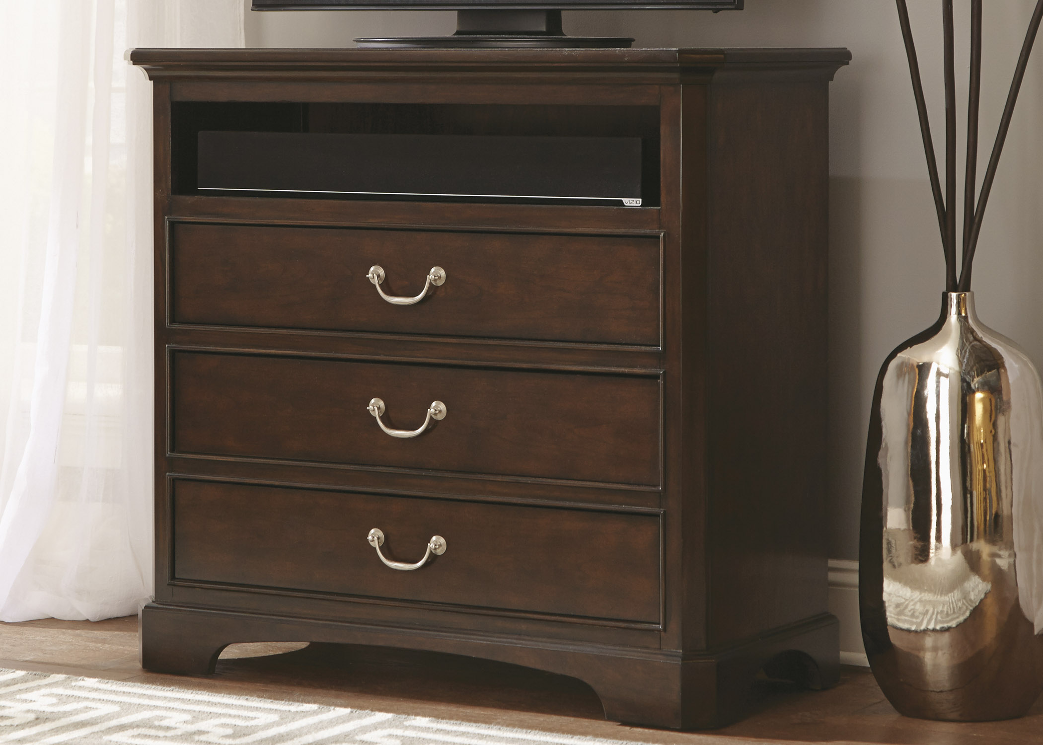 Liberty Furniture Avington 3-Drawer Media Chest - Item Number: 172-BR45