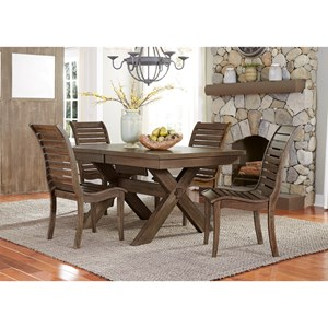 Liberty Furniture Bayside 5 Piece Trestle Table Set