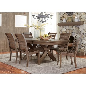 Liberty Furniture Bayside 7 Piece Trestle Table Set