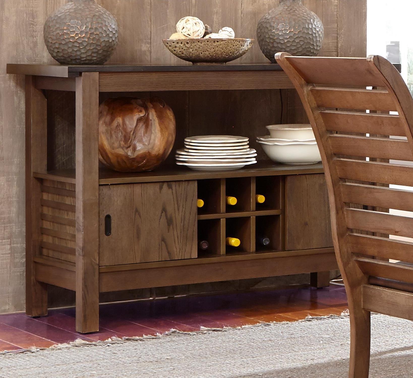 Liberty Furniture Bayside 2 Door Server With Wine Bottle Storage Prime Brothers Furniture