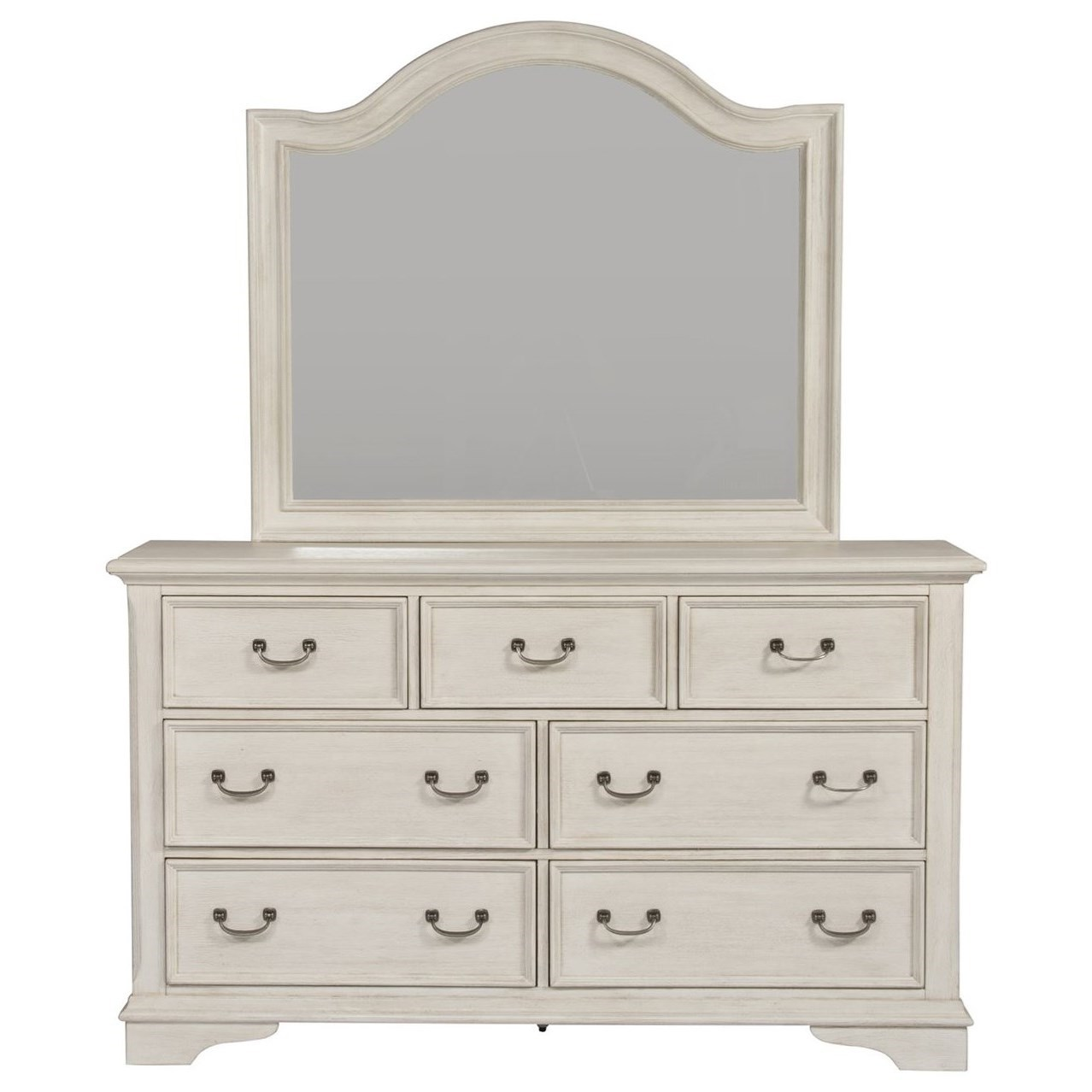 Bayside Bedroom Dresser & Mirror  by Libby at Walker's Furniture