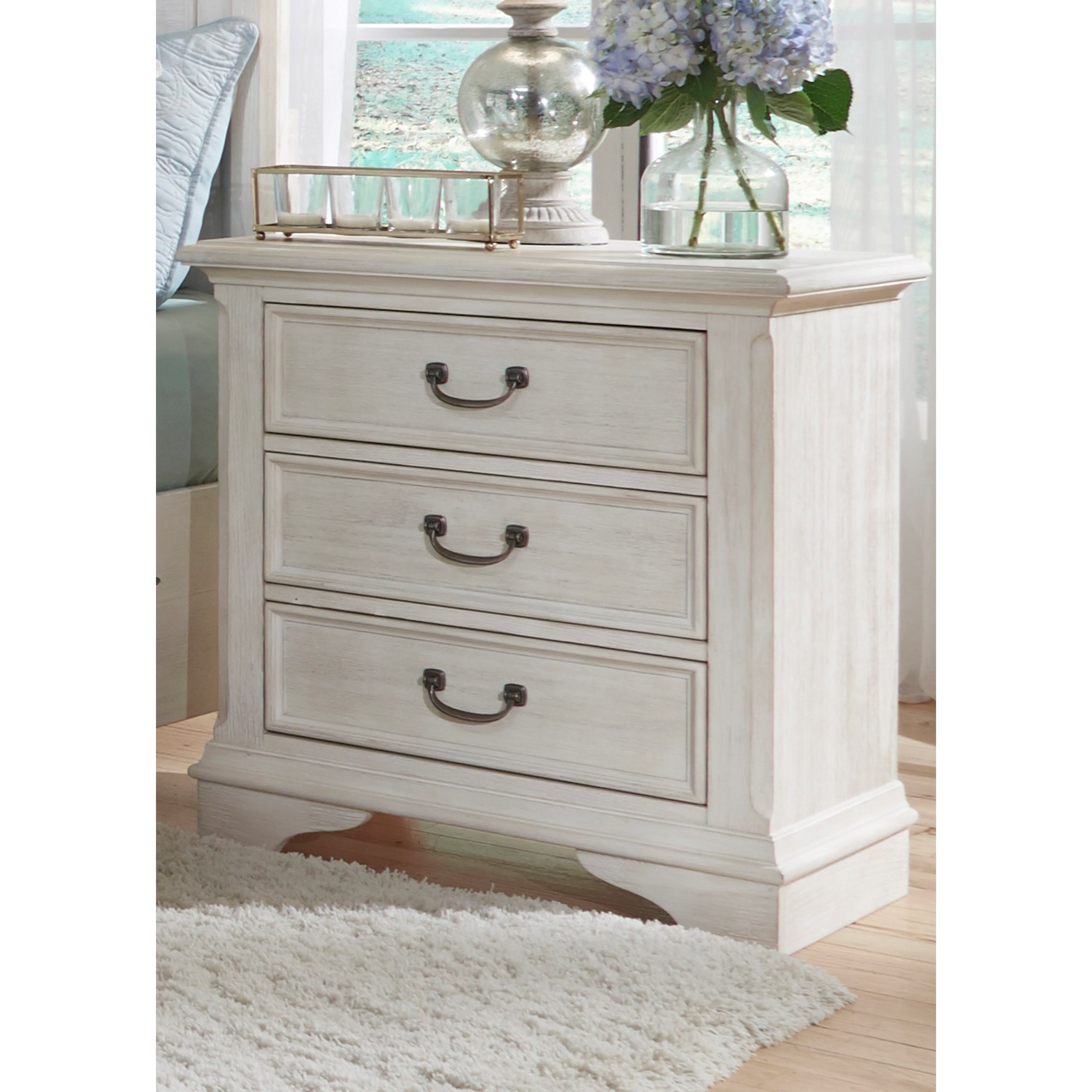 Liberty Furniture Bayside Bedroom 3 Drawer Night Stand - Item Number: 249-BR61