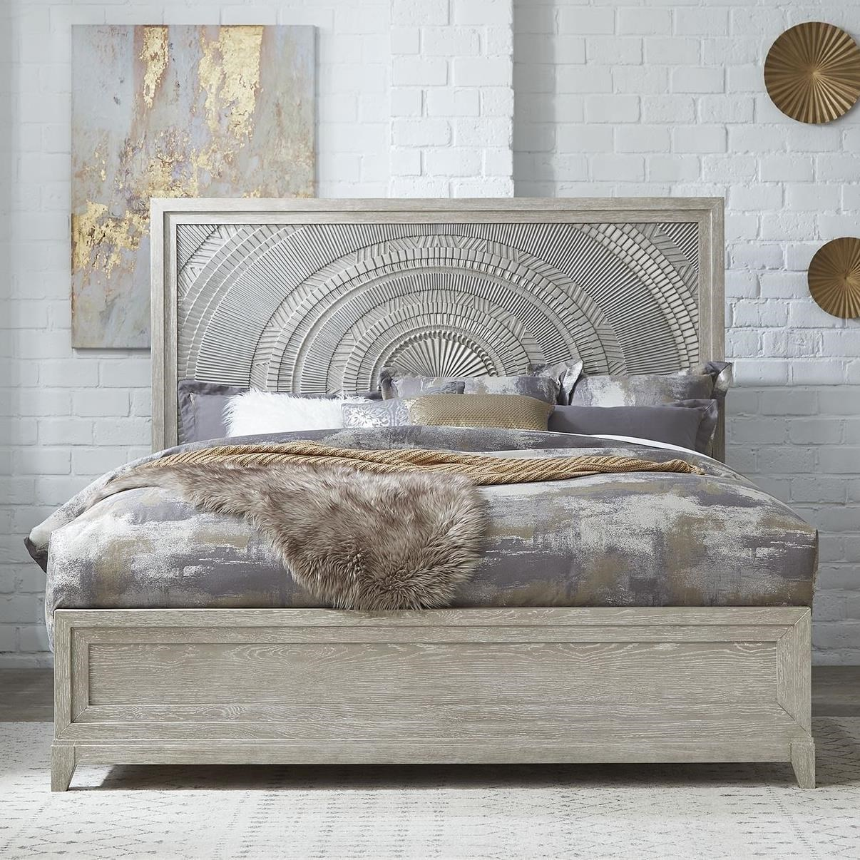 Belmar King Panel Bed by Sarah Randolph Designs at Virginia Furniture Market