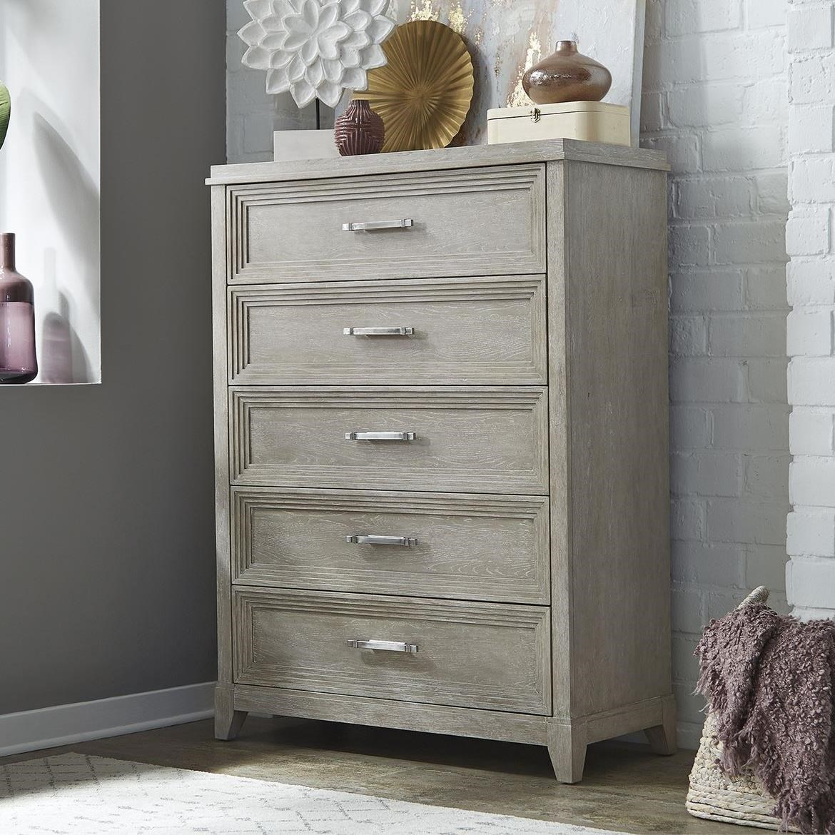 Belmar 5-Drawer Chest by Libby at Walker's Furniture