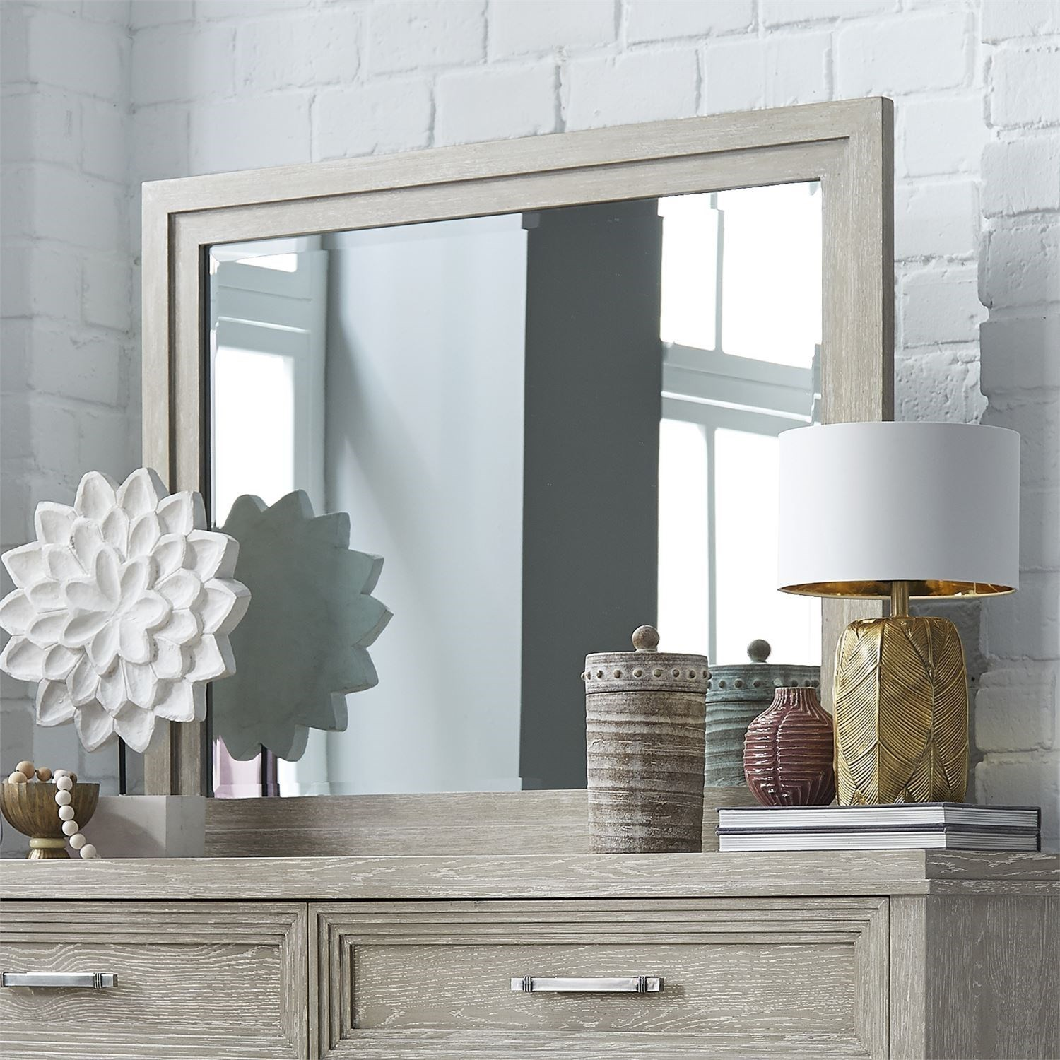 Belmar Landscape Mirror by Liberty Furniture at Northeast Factory Direct