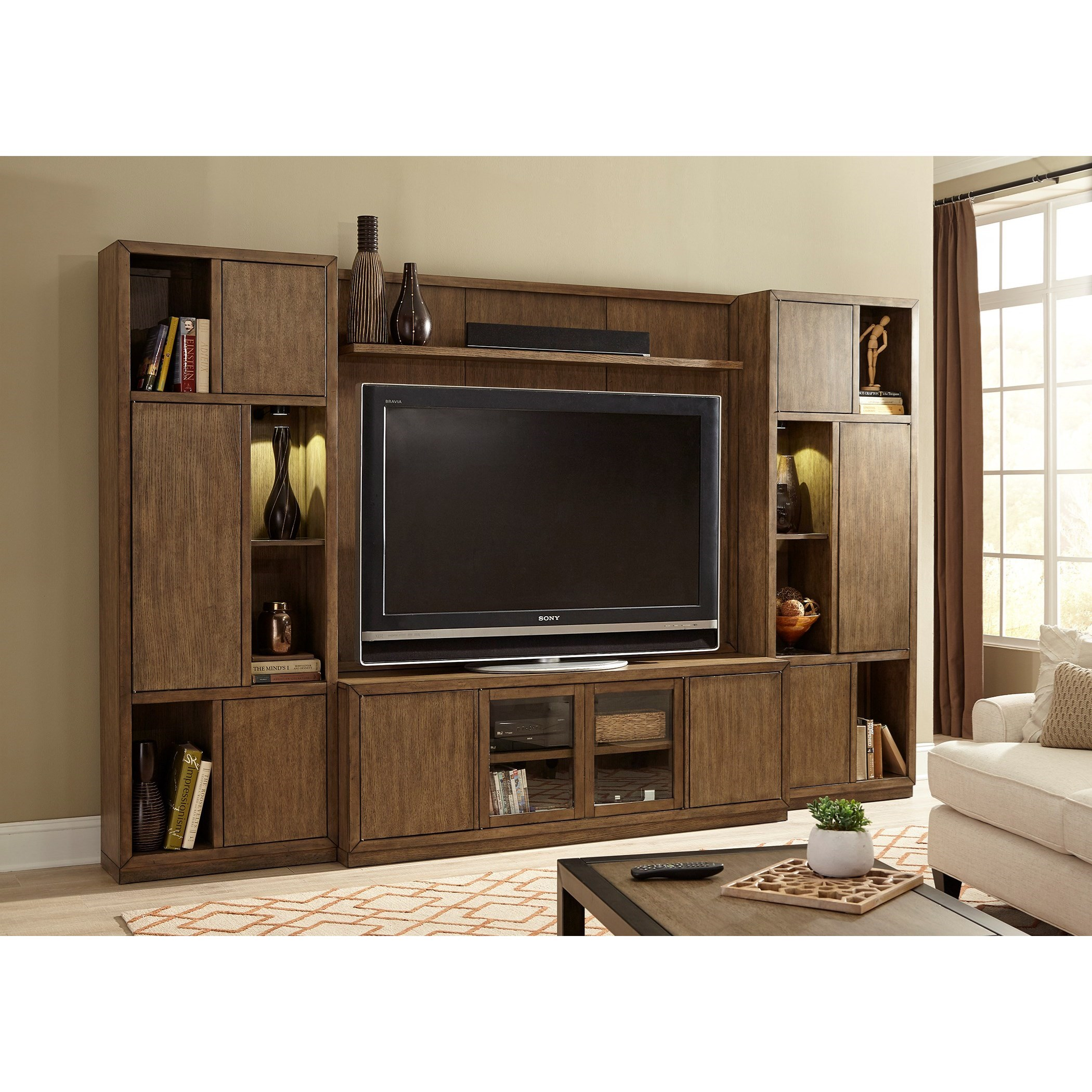 Liberty Furniture Bennett Point Entertainment Center with Piers  - Item Number: 463-ENTW-ECP