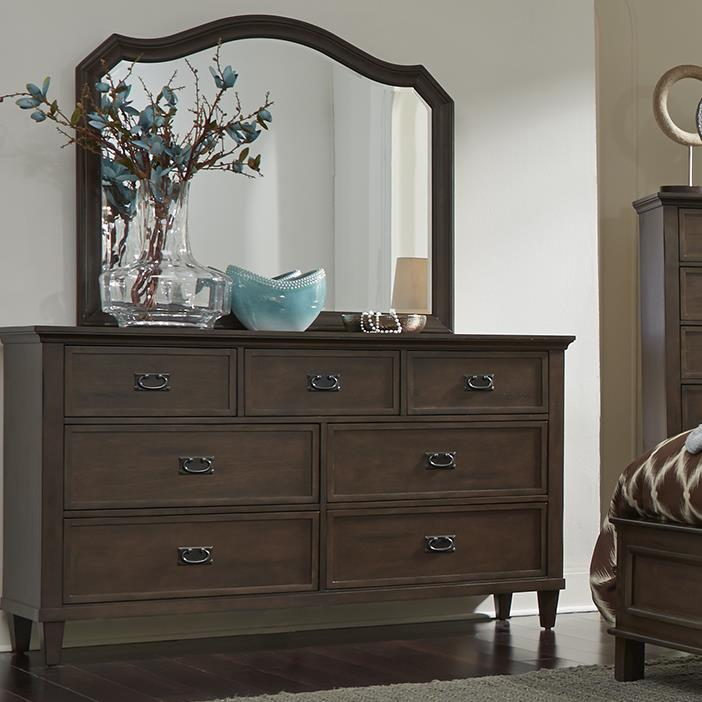 Liberty Furniture Berkley Heights 7 Drawer Dresser and Mirror - Item Number: 102-BR-DM