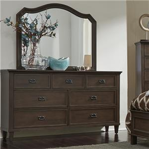 Vendor 5349 Berkley Heights 7 Drawer Dresser and Mirror