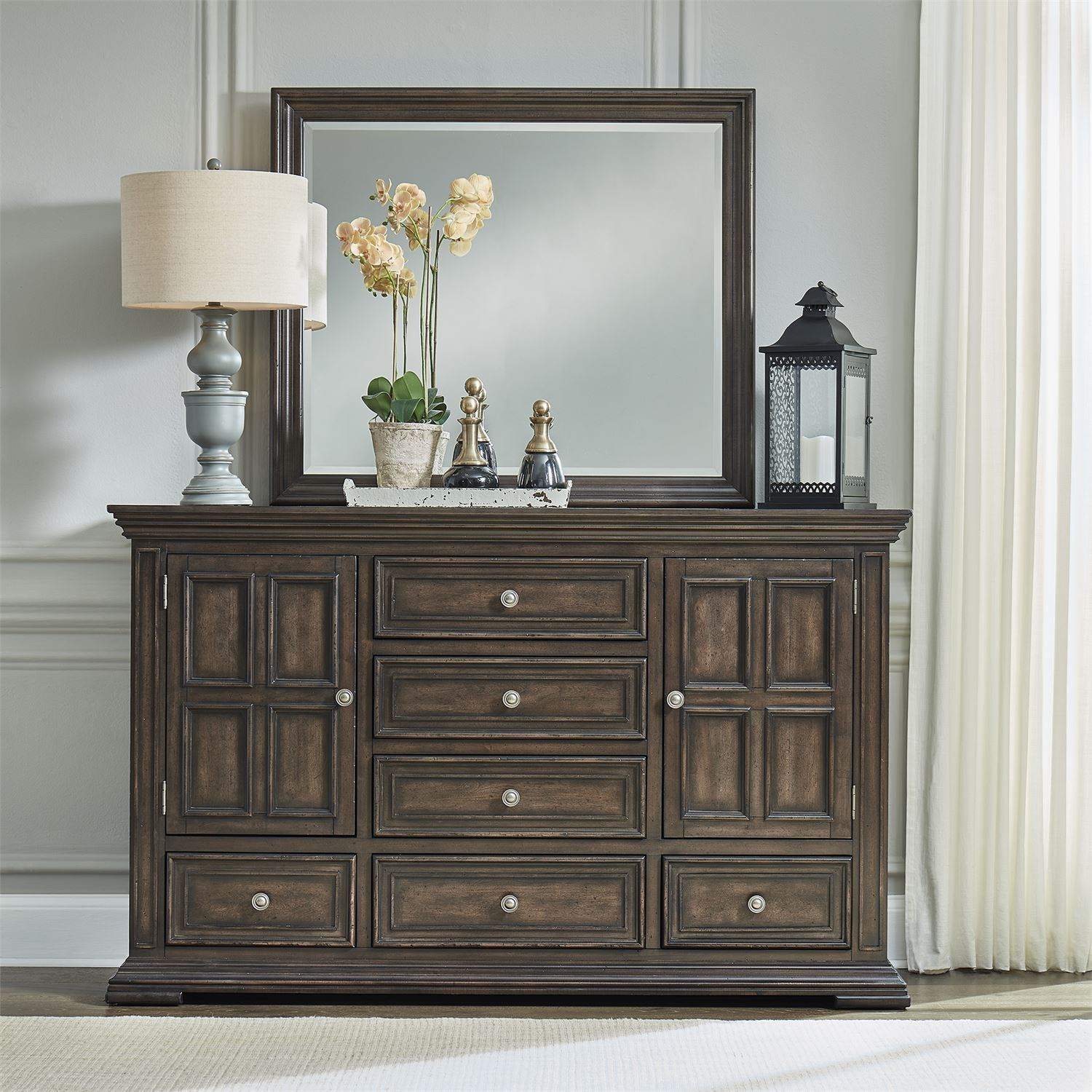 Big Valley Dresser and Mirror by Libby at Walker's Furniture