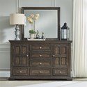 Liberty Furniture Big Valley Dresser and Mirror - Item Number: 361-BR-DM