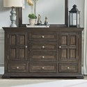 Liberty Furniture Big Valley 2-Door 6-Drawer Dresser - Item Number: 361-BR31