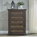 Liberty Furniture Big Valley 5-Drawer Chest - Item Number: 361-BR41