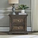 Liberty Furniture Big Valley 2-Drawer Night Stand with Charging Station - Item Number: 361-BR61