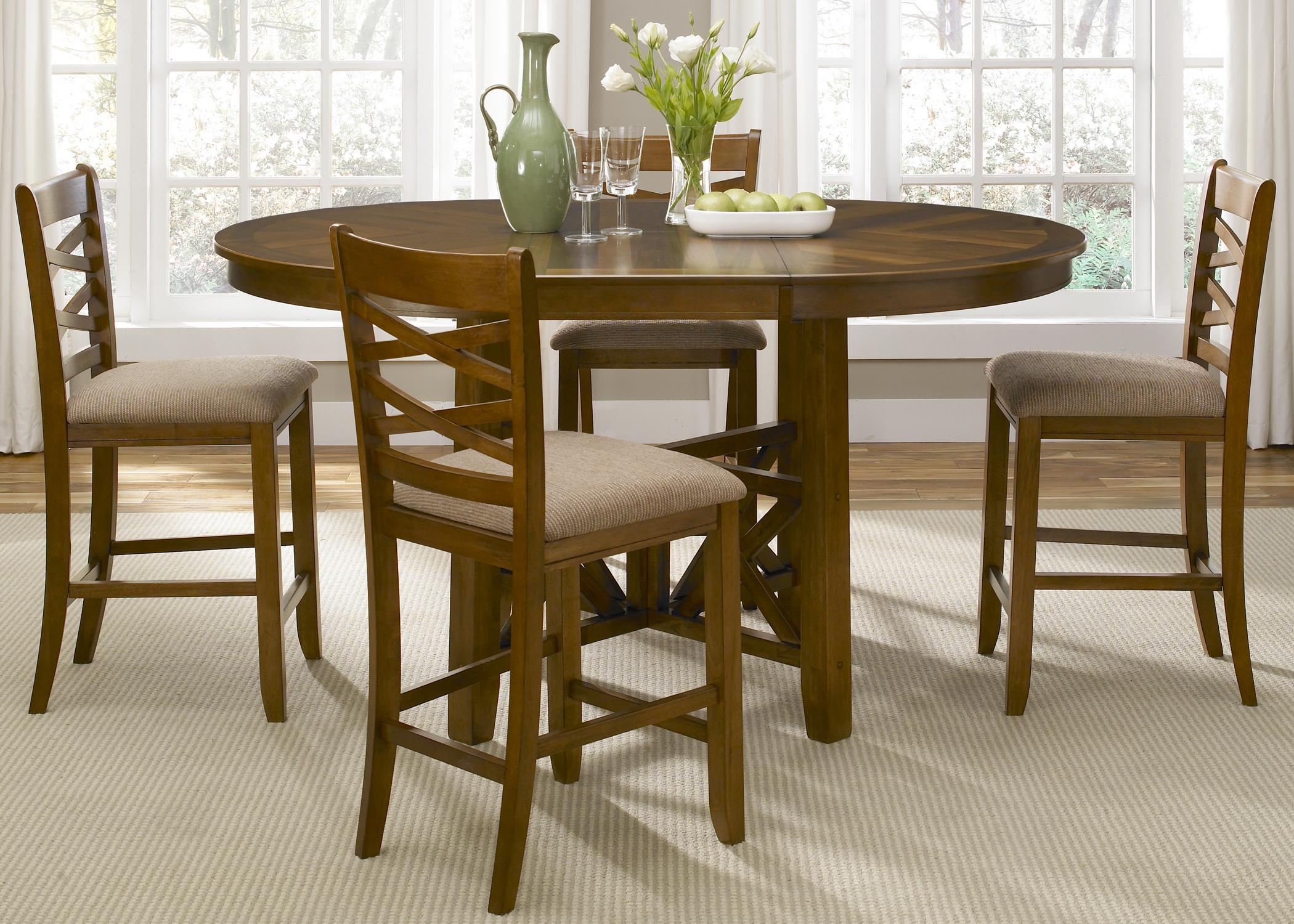 Liberty Furniture Applewood 5 Piece Gathering Height Dining Set - Item Number: 64-CD-SET14