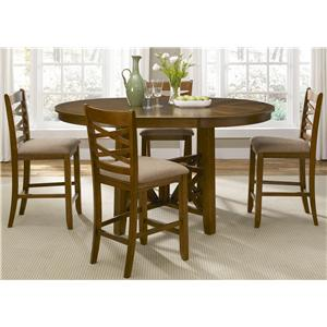 Vendor 5349 Bistro 5 Piece Gathering Height Dining Set