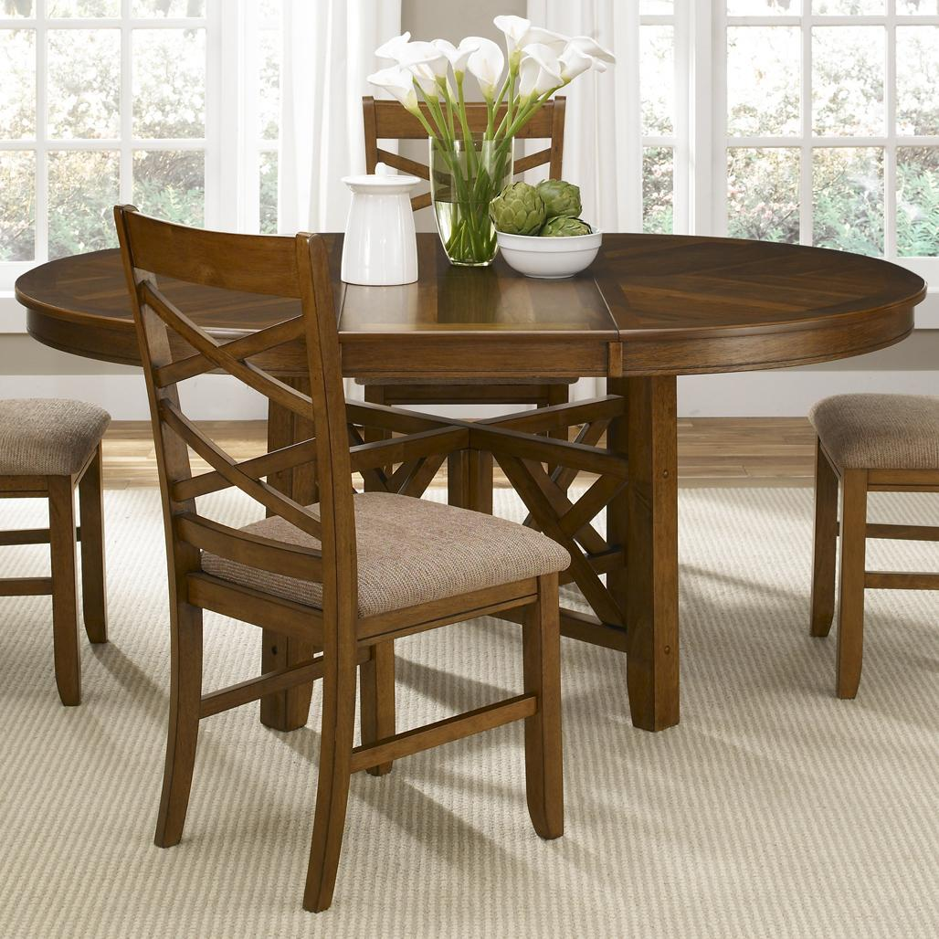 Liberty Furniture Applewood Oval Pedestal Dining Table - Item Number: 64-P4866+T4866