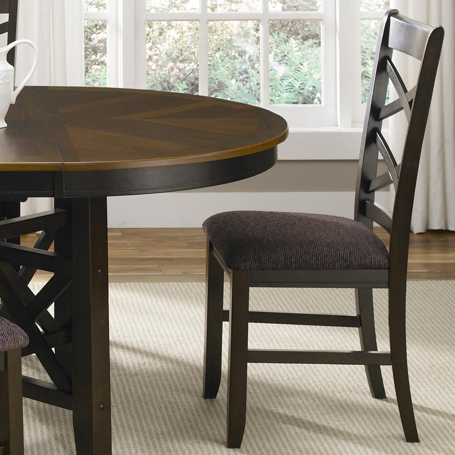 Liberty Furniture Bistro II Double X-Back Side Chair - Item Number: 74-C3001S