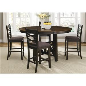 Liberty Furniture Bistro II 5 Piece Gathering Height Dining Set