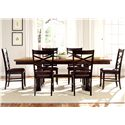 Vendor 5349 Bistro II 7 Piece Trestle Table Set  - Item Number: 74-CD-SET36