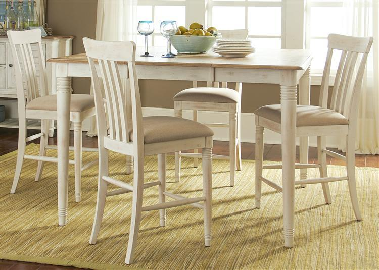 Liberty Furniture Bluff Cove Gathering Height Table and Chair Set - Item Number: 568-4xB150125+GT5454