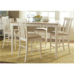 Liberty Furniture Point West Gathering Height Table and Chair Set