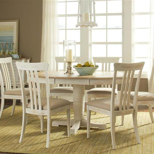 Liberty Furniture Bluff Cove Large Casual Dining Table and Chair Set - Item Number: 568-6xC1501S+P4260+T