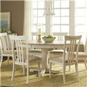 Liberty Furniture Point West Large Casual Dining Table and Chair Set - Item Number: 568-6xC1501S+P4260+T