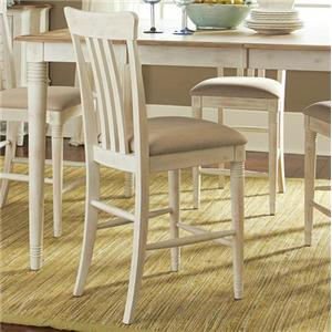 Vendor 5349 Bluff Cove Slat Back Counter Chair