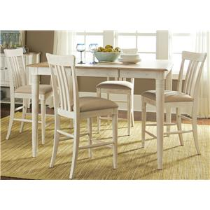 Liberty Furniture Point West 5 Piece Gathering Table Set