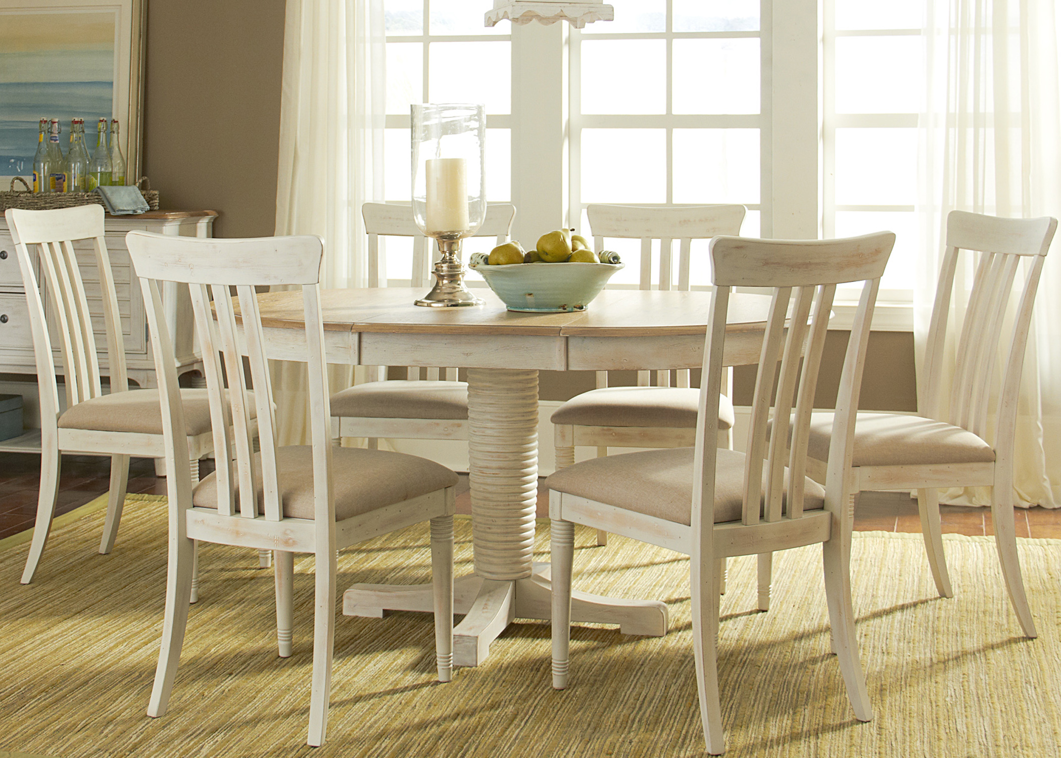 Liberty Furniture Point West 7 Piece Oval Table Set  - Item Number: 568-CD-7OVS