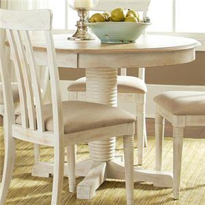 Liberty Furniture Bluff Cove Oval Pedestal Table
